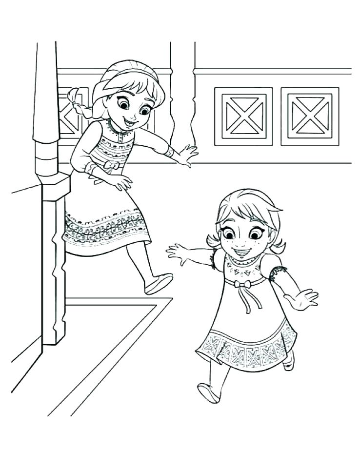 740x960 Anna And Elsa Hugging Coloring Pages