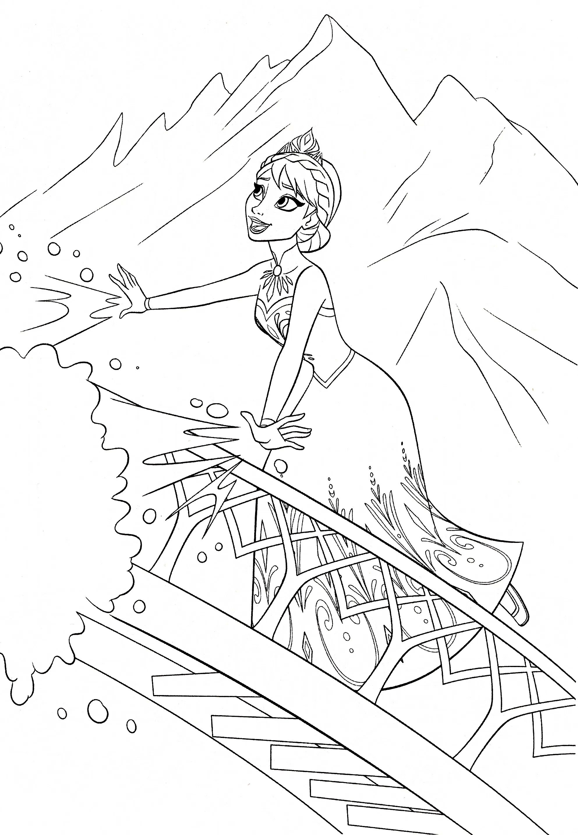Frozen Fever Elsa Coloring Pages at GetDrawings | Free ...