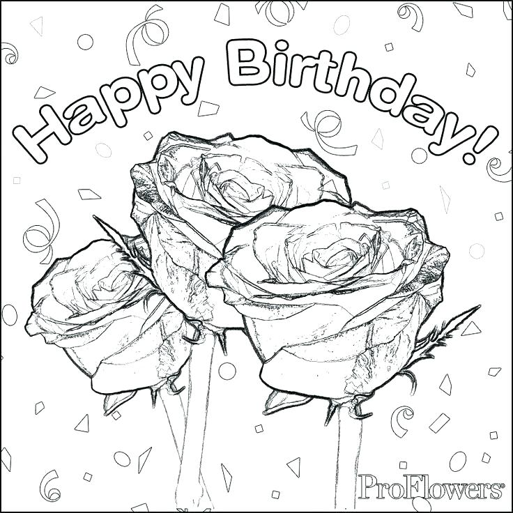 736x736 Happy Birthday Color Pages Free Happy Birthday Coloring Pages