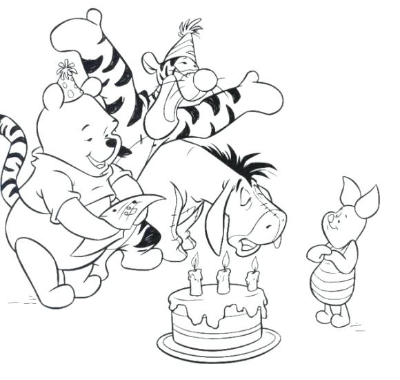 580x550 Happy Birthday Coloring Pages Disney Birthday Coloring Pages Happy