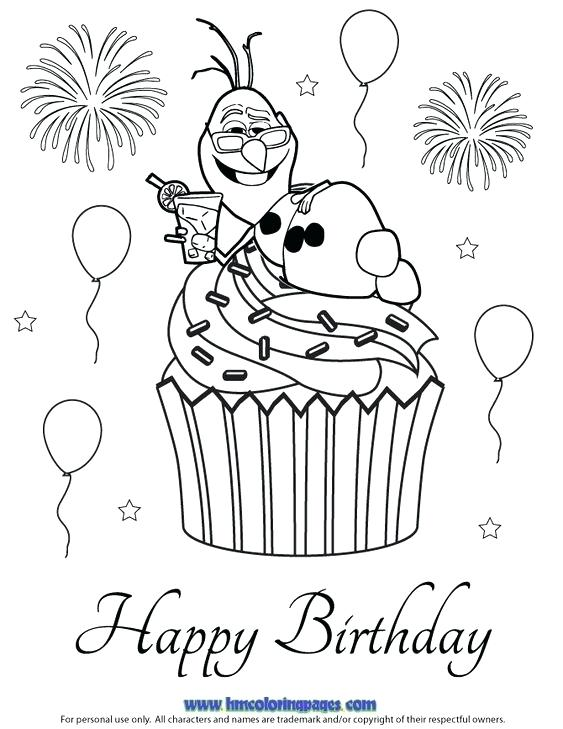 563x729 Happy Birthday Coloring Pages Disney Happy Birthday Color Pages