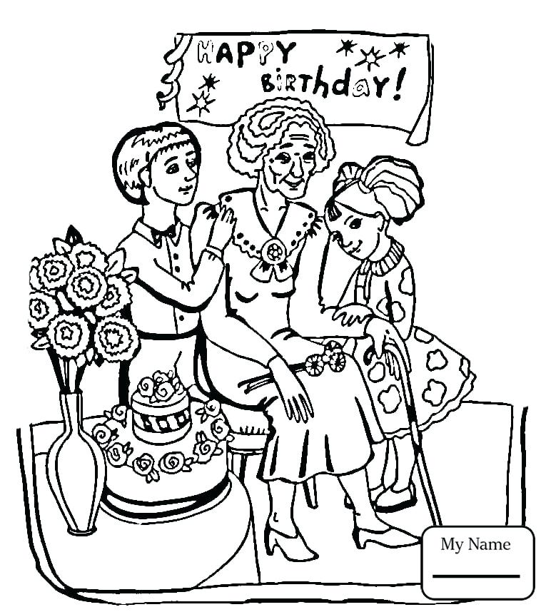 765x858 Happy Birthday Coloring Pages Happy Birthday Coloring Pages Disney
