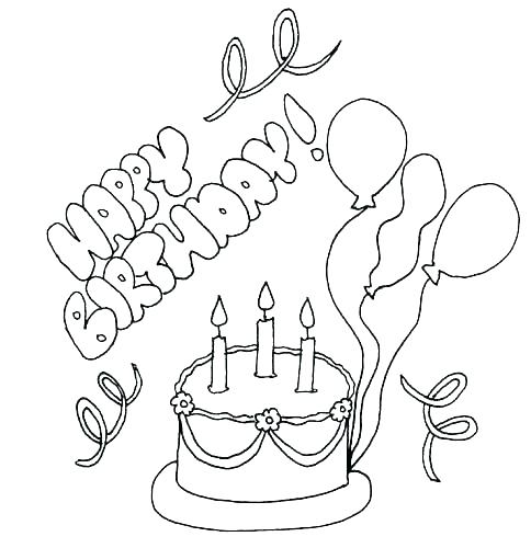 484x500 Printable Happy Birthday Coloring Pages Printable Happy Birthday