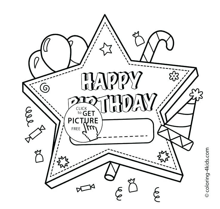 736x698 Birthday Card Coloring Pages Birthday Coloring Pages For Mom Card