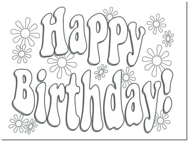 651x491 Birthday Cards Coloring Pages Happy Birthday Coloring Pages