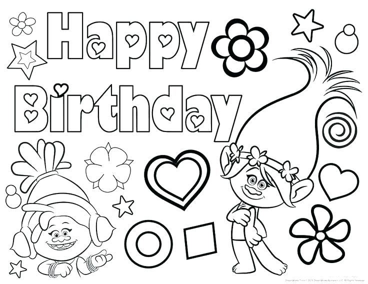 736x568 Birthday Coloring Page Birthday Coloring Pages For Mom Happy