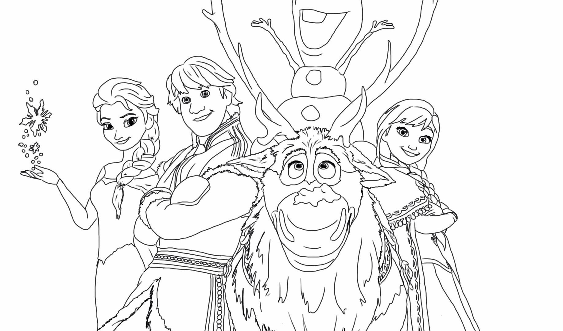 Frozen Printable Coloring Pages At Getdrawings Free Download