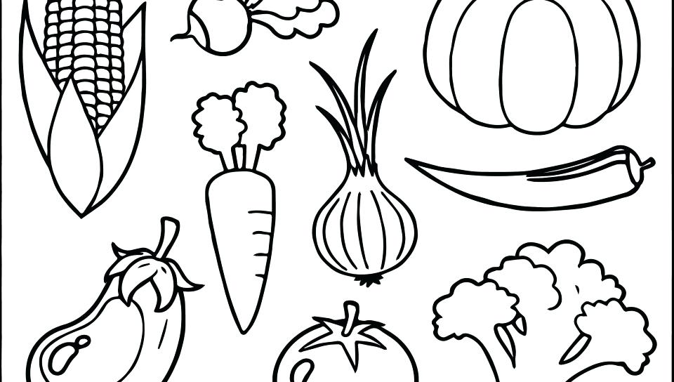 Fruits and vegetables coloring pages | 544x960