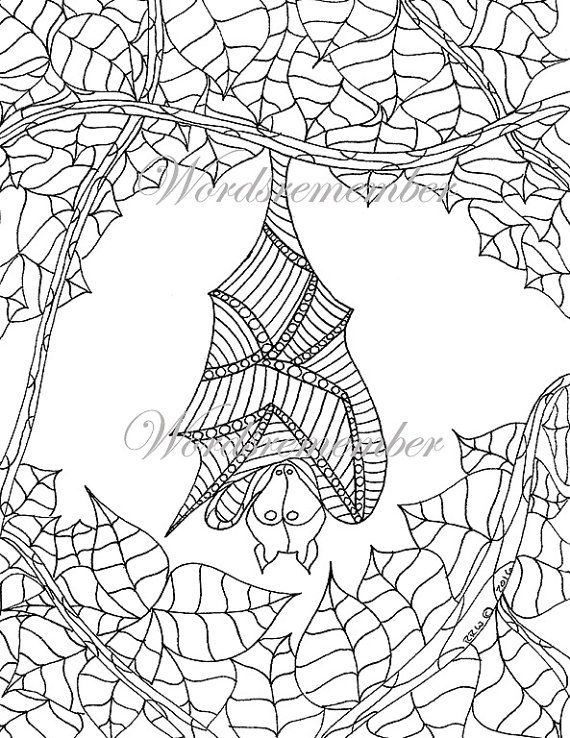 Fruit Bat Coloring Page