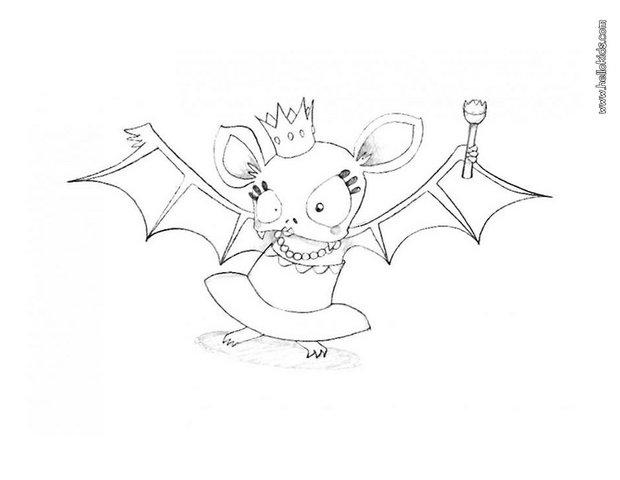 620x480 Fancy Bat Queen Coloring Pages