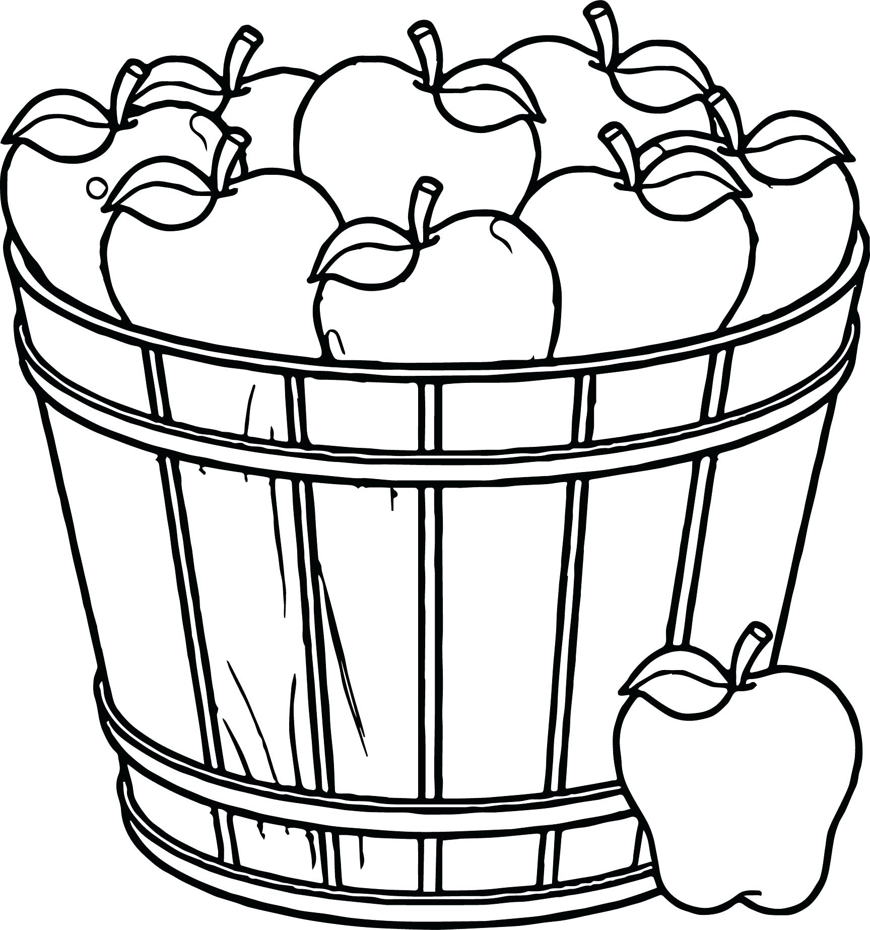 1727x1846 Awesome Fruit Basket Coloring Pages Print Design Printable