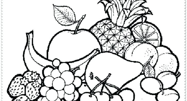 728x393 Fruit Basket Coloring Pages Kids Coloring Page Fruit Basket