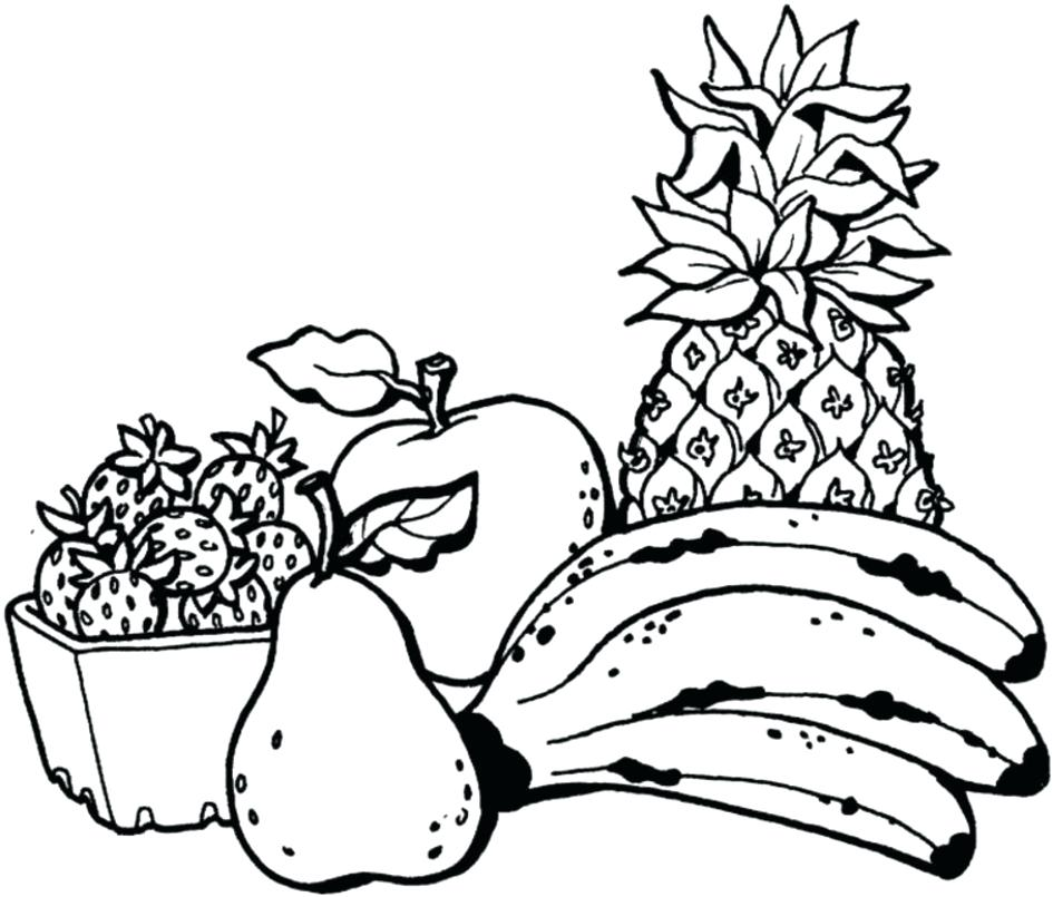 945x805 Fruit Coloring Page Fruit Coloring Pages Fruit Basket Coloring