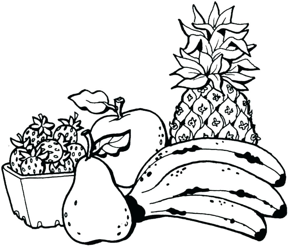 945x805 Fruit Coloring Sheets Fruit Printable Coloring Pages Unique Fruit