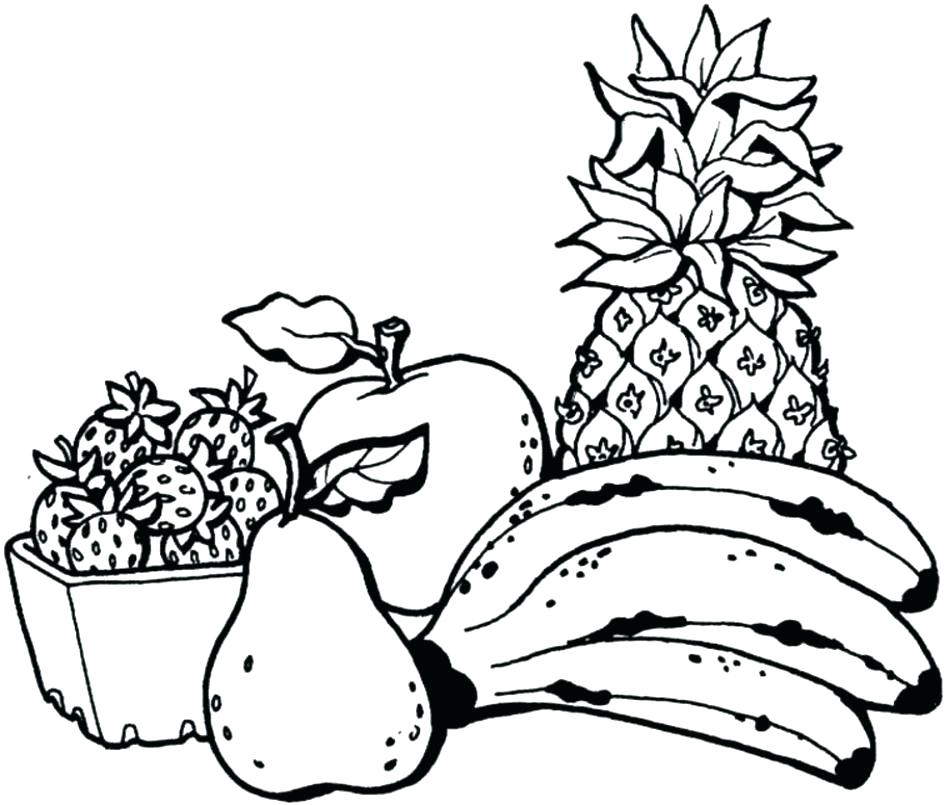 945x805 Fruits Coloring Pages Together With Printable Fruit Coloring