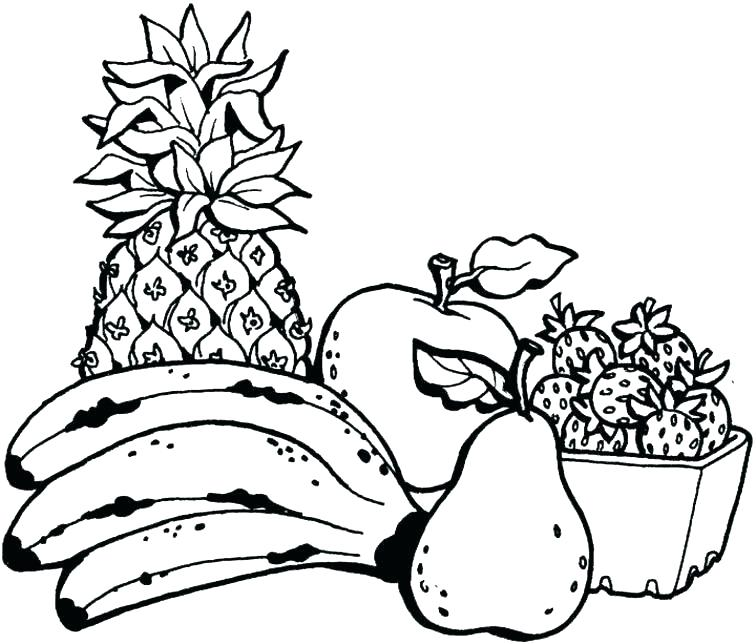 756x644 Printable Fruit Coloring Pages Fruits And Veggies Coloring Pages