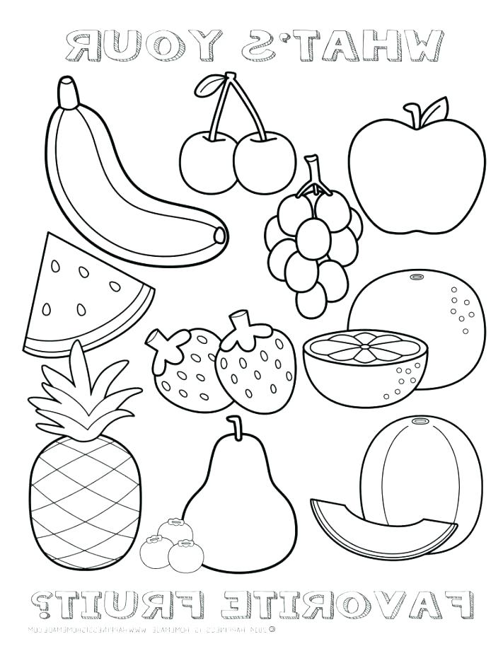 711x920 Coloring Pages Fruits Fruits Coloring Pages Fruit Kids Empty