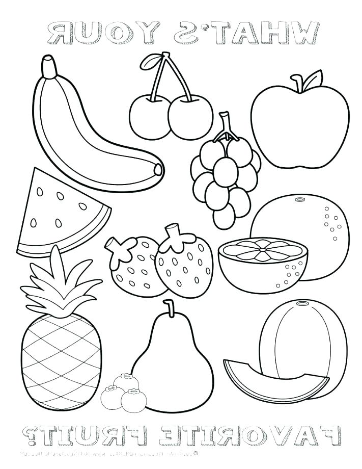 711x920 Coloring Fruit Basket Coloring Page Pages Fruits Kids Empty