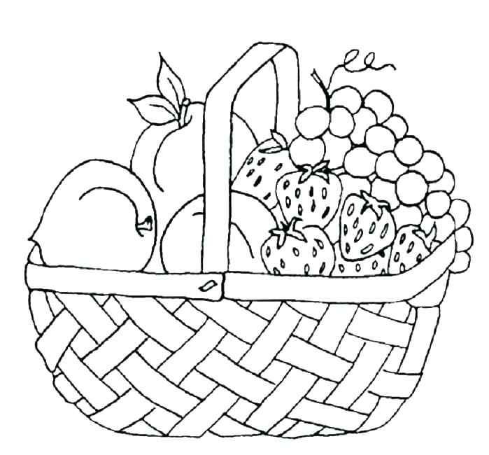 699x650 Fruit Basket Coloring Pages