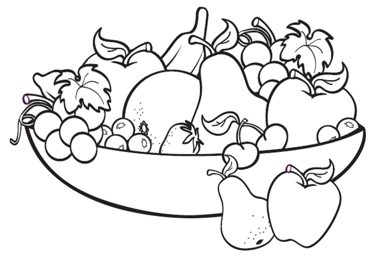 1308x918 Fresh Fruit Bowl Coloring Pages Gallery Printable Coloring Sheet