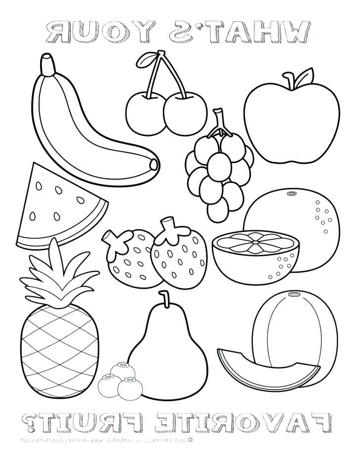 711x920 Fruit Coloring Pictures Fruit Color Pages Fruit Coloring Pages