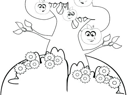 440x330 Free Apple Coloring Pages Apple Tree Coloring Page Apple Printable