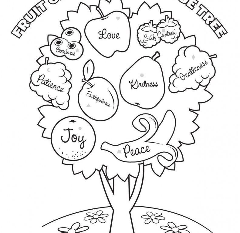 791x768 Free Fruit Of The Spirit Coloring Pages Trend Fruits Of The Spirit