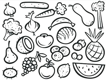 Fruits And Vegetables Coloring Pages At GetDrawings Free Download