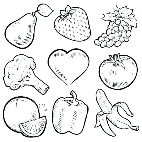 Fruits And Vegetables Coloring Pages at GetDrawings.com | Free for ...