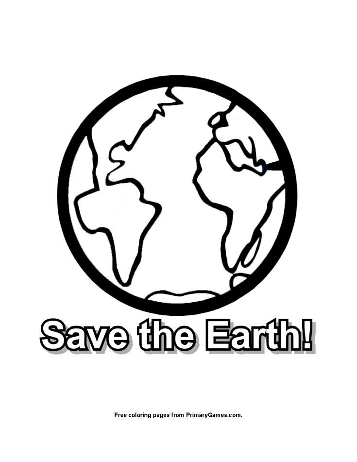 735x951 Save The Earth Coloring Page Printable Earth Day Coloring Ebook