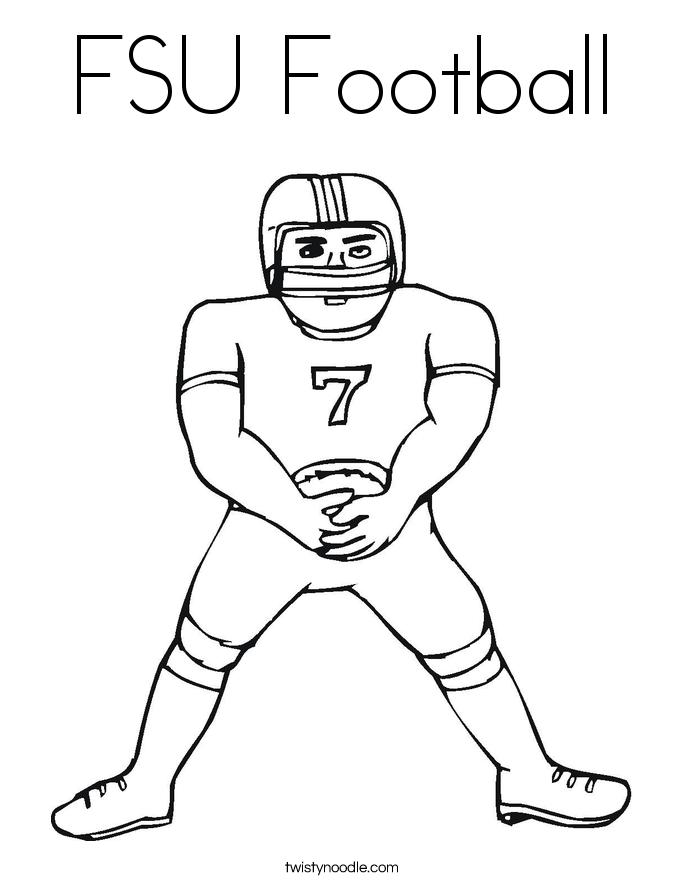 685x886 Fsu Football Coloring Page