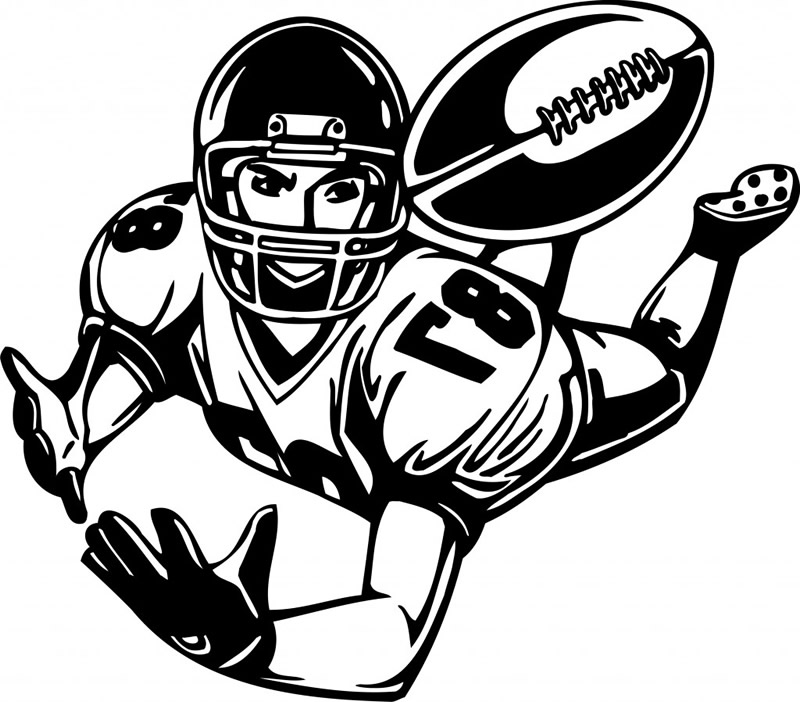 800x702 Football Clipart Coloring Page
