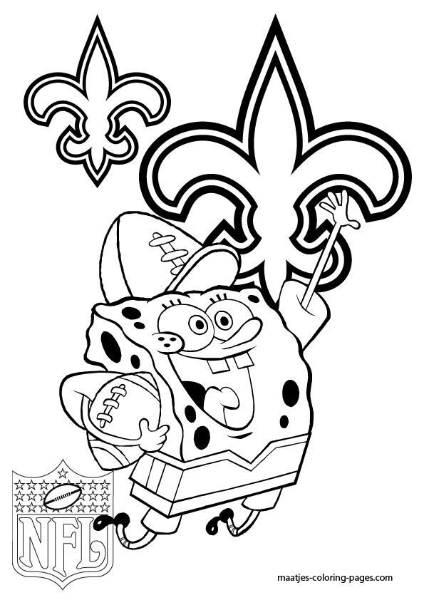 595x842 New Orleans Saints Coloring Pages