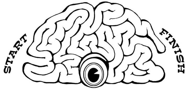 720x343 Brain Coloring Page