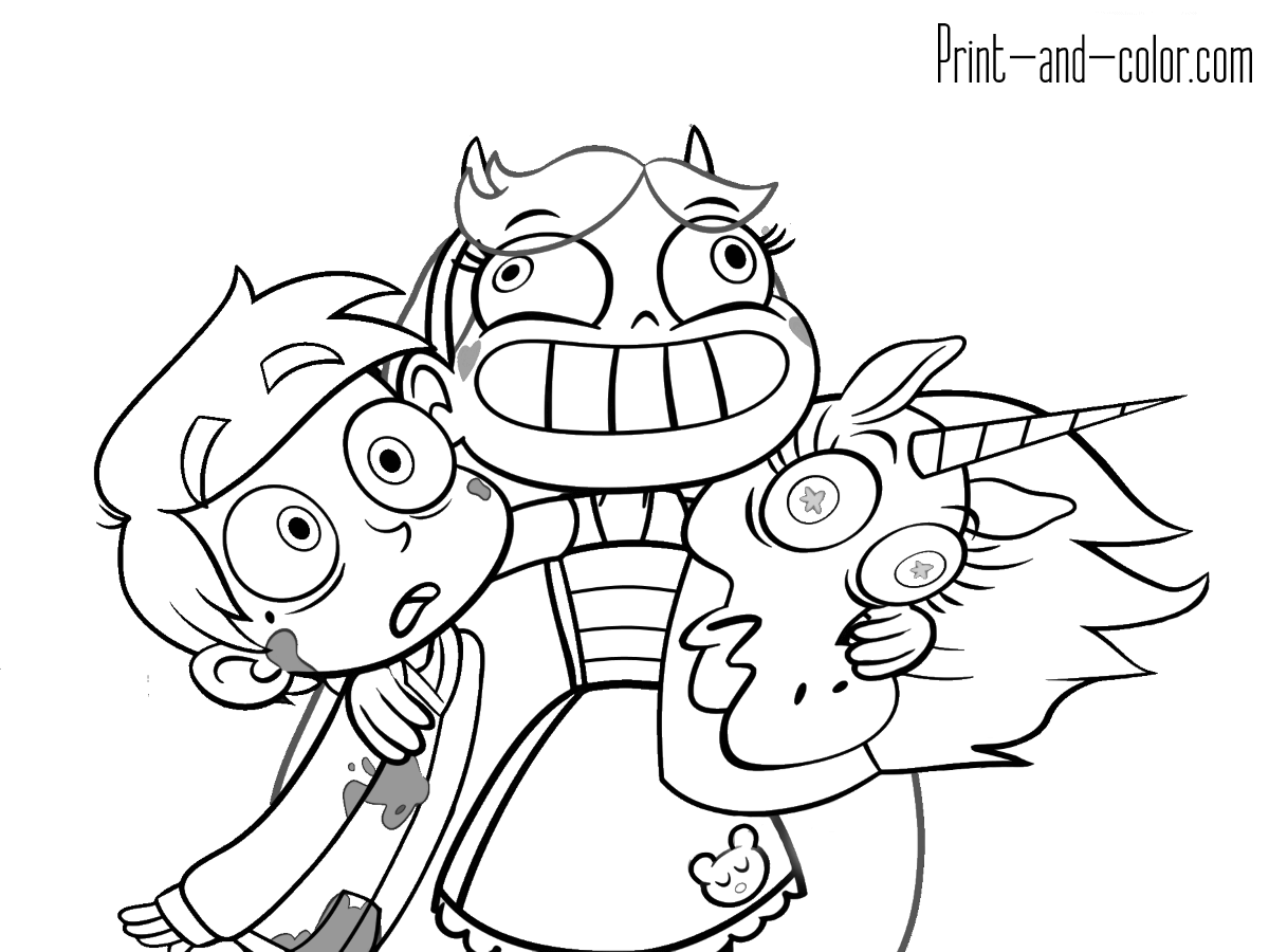 1200x900 Full Star Vs The Forces Of Evil Coloring Pages
