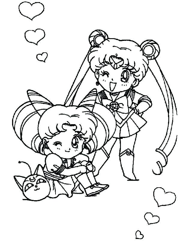 600x815 Moon Coloring Pages Sailor Moon And Sailor Moon Coloring Page Full