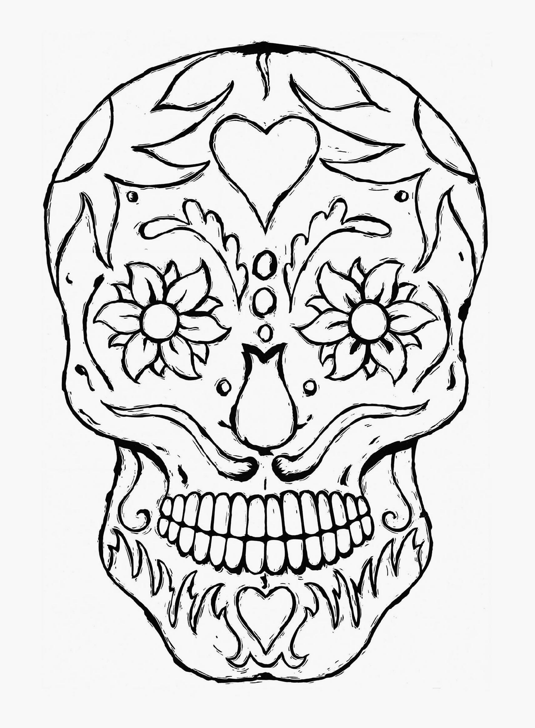 1712x2328 Unique Skull Mandala Coloring Pages Collection Printable