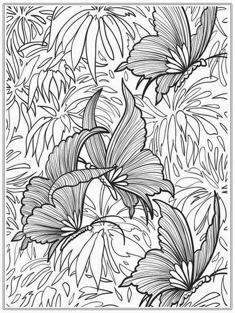 768x1024 Butterfly Adult Coloring Pages Full Size Free