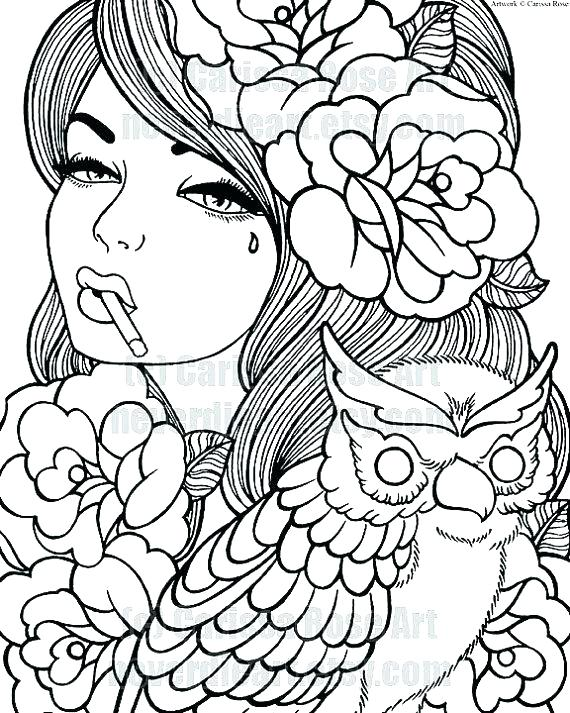 570x713 Coloring Pages Of Girl Usedauto Club