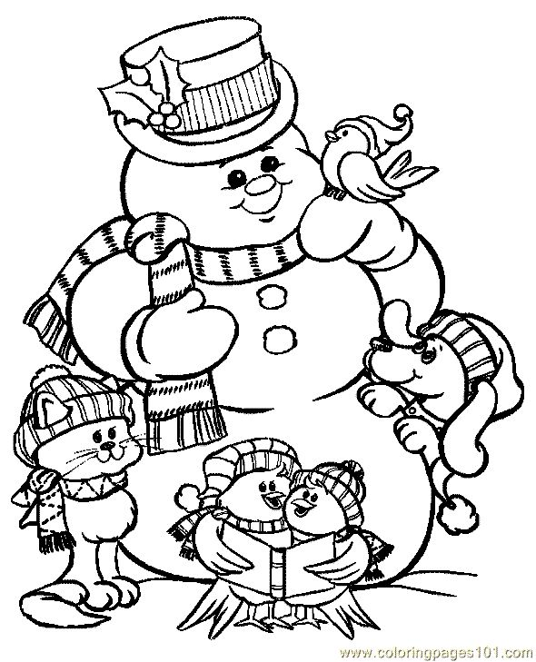 Full Page Christmas Coloring Pages At Getdrawings Free Download