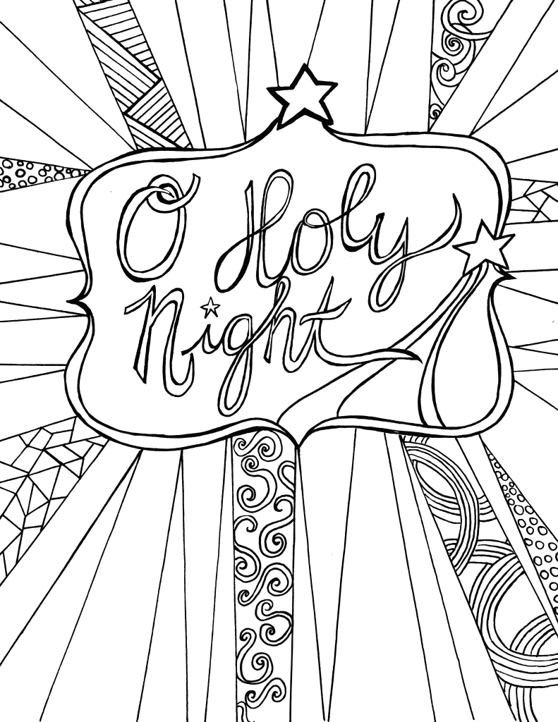 791x1024 Printable Christmas Colouring Pages For Adults Throughout Adult