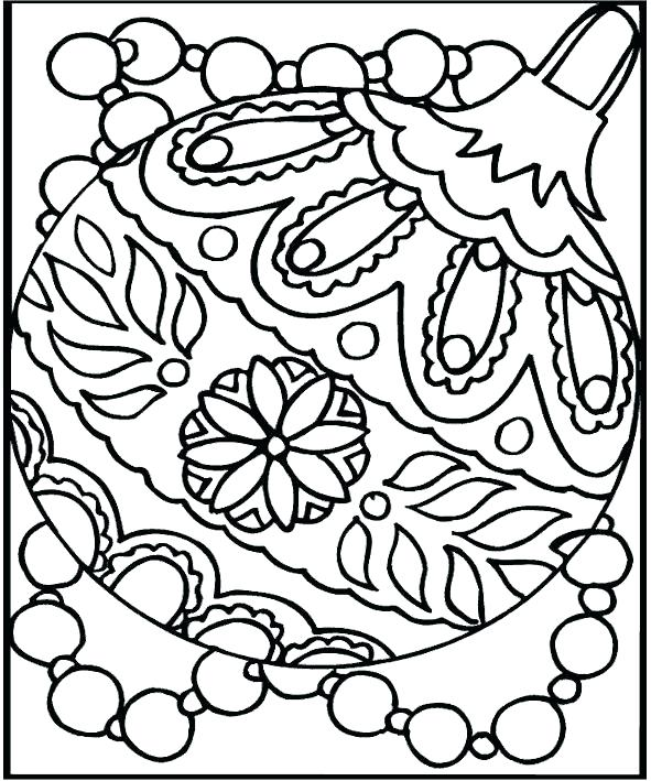 591x709 Free Printable Christmas Coloring Pages