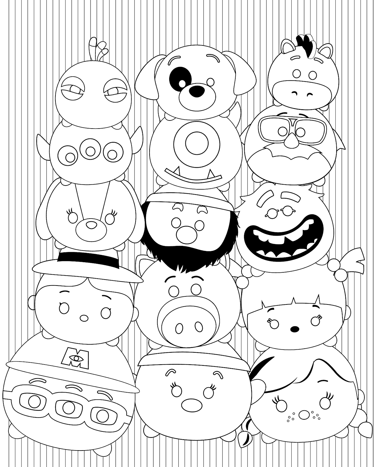 1200x1500 Disney Tsum Tsum Coloring Pages