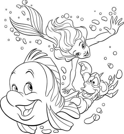 500x541 Free Disney Coloring Pages Ariel Free Coloring Pages Disney