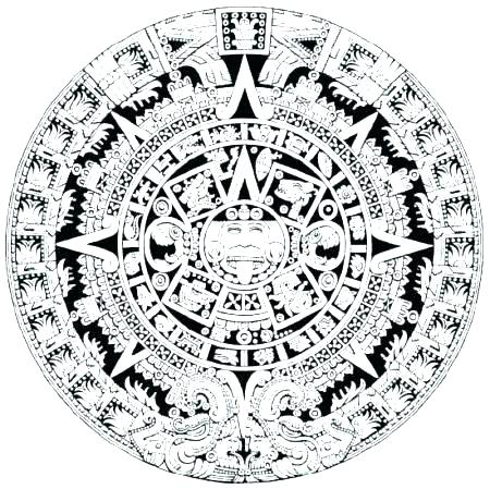 450x449 Aztec Calendar Coloring Page Coloring Pages Coloring Pages Art