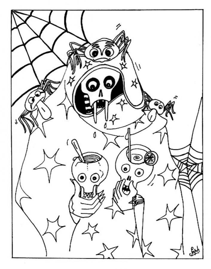 706x900 Free Printable Halloween Coloring Pages For Kids