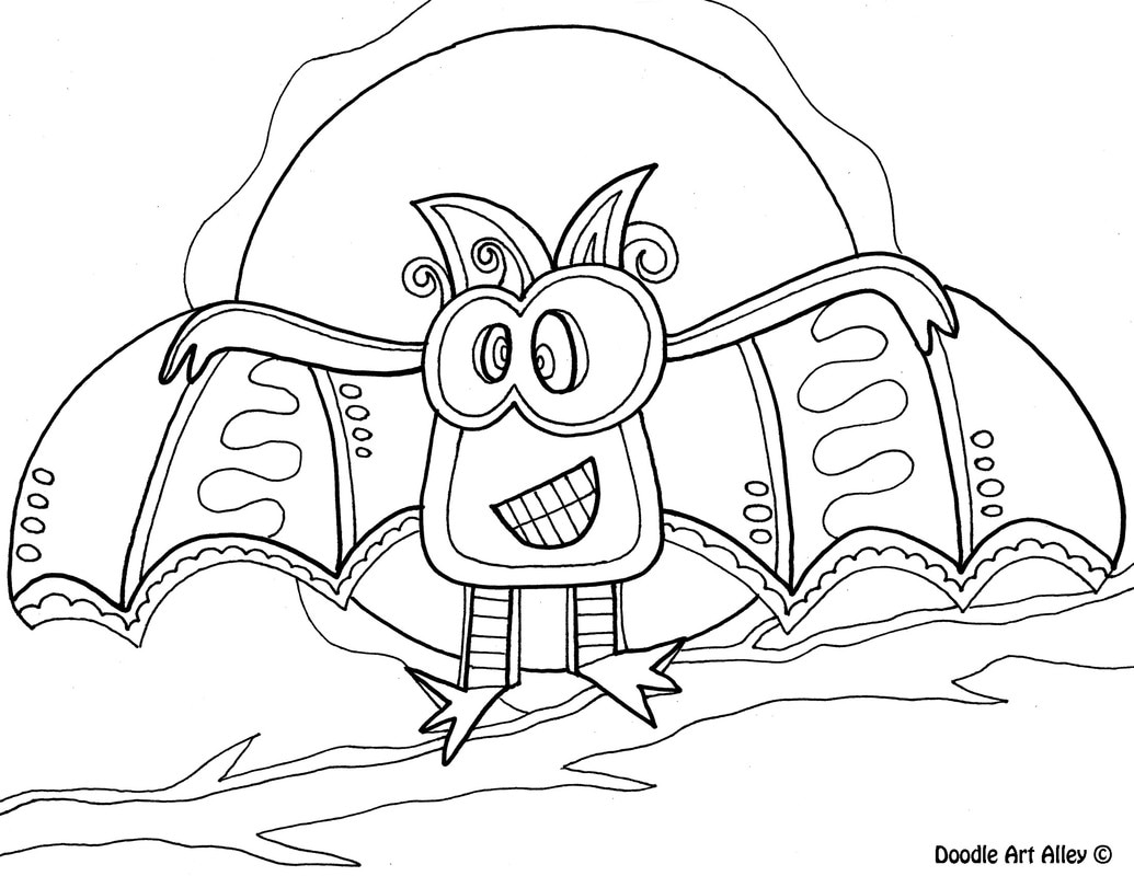 1035x800 Halloween Coloring Pages