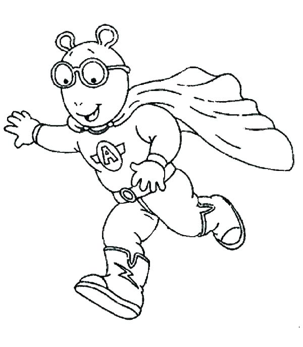 600x686 Arthur Halloween Coloring Pages Coloring Pages Coloring Pages