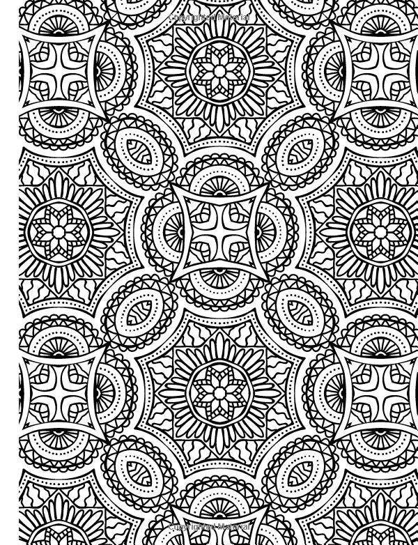 Full Page Mandala Coloring Pages