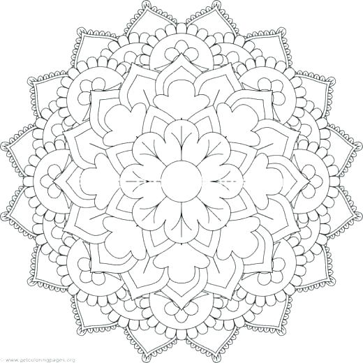 520x520 Flower Mandala Coloring Pages Flower Mandala Coloring Pages